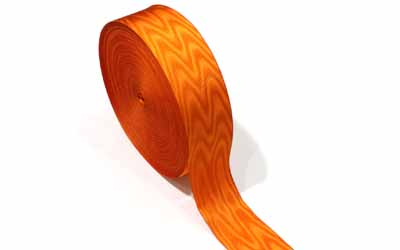 Masonic Moire Ribbon orange