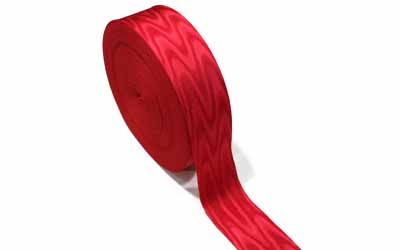 Moire Ribbon Red