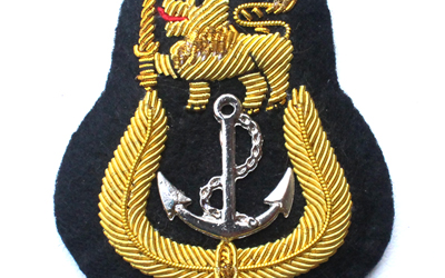 SA Navy Officer's Cap Badge Supplier