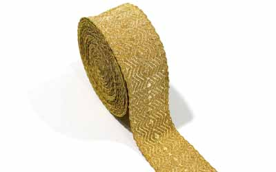 Gold Mylar Wire Lace Military Braid