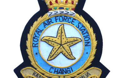 RAF Station Changi Crest blazer Badge