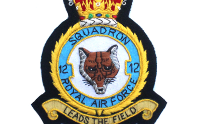 Squadron Royal Air Force Embroidered Badge