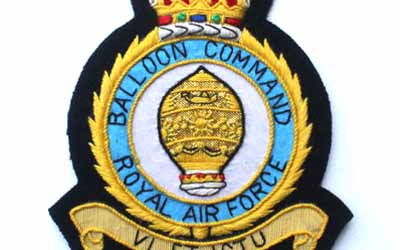 RAF Balloon Command Embroidered Badge