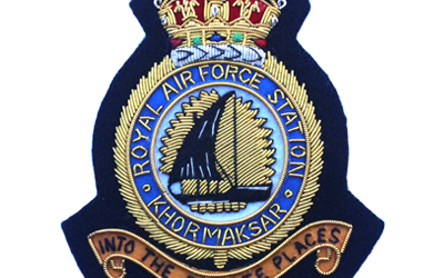 Royal Air Force Khormaksar Station Blazer Embroidered Badge