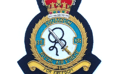 Royal Air Force Squadron Gold Bullion Badge