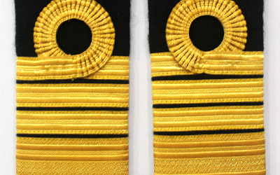 Navy Commander shoulder straps, Navy Captain shoulder straps