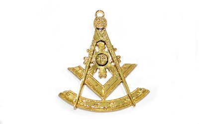 Masonic Gold Regalia Collar Jewel - Past Master