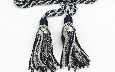 Silk Drone Cord White & Dark Blue