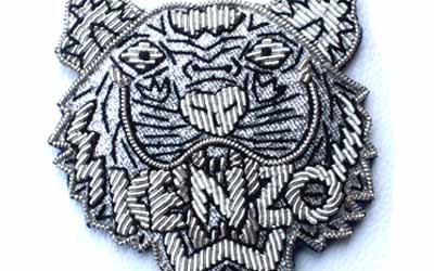 Silver Bullion wire Badges kenzo