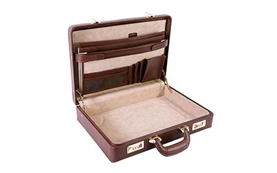 Masonic Regalia Provincial Hard Apron Case in Cowhide Leather with Metal Lock