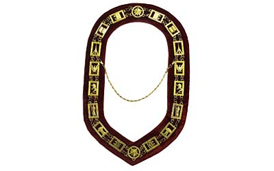 Masonic Heroines of Jericho Women's Chain Collar golden Plated H.O.J chain collar