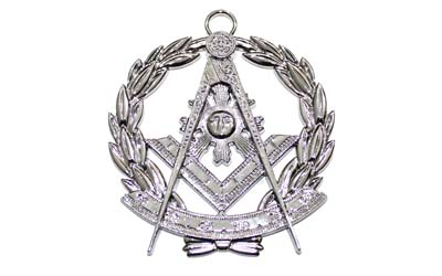Craft Provincial Scottish Collar Grand Lodge Jewel - Past Master Silver Metal