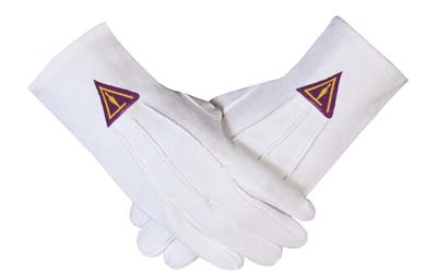 ROYAL SELECT - YORK RITE TROWEL Masonic Gloves