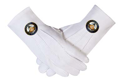 Masonic Regalia Ceremonial Military Mitten White Gloves