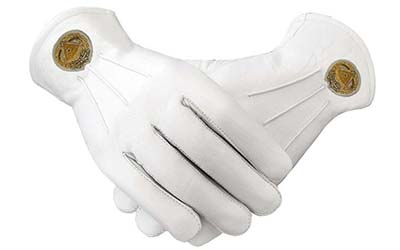 Soft Leather Masonic Gloves Grand Master Bullion Embroidery