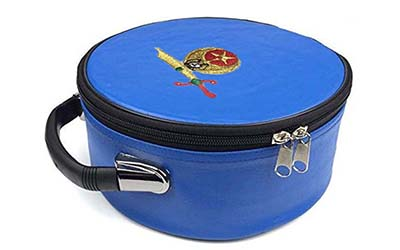 Masonic Regalia Shriner Emblem Blue Cap Case