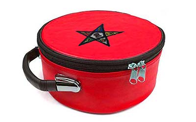 Masonic Regalia OES Order of Eastern Star Red Cap Case