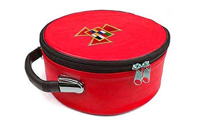 Masonic Regalia Past High Priest Red Cap Case