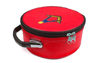 Masonic Regalia Square and Compass Red Cap Case