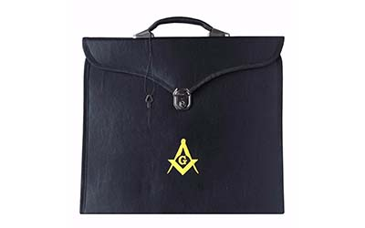 Masonic MM/WM and Provincial Full Dress Yellow Square Compass Cases with hard handle