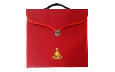 Masonic MM/WM and Provincial Full Dress Past Master Red Cases with hard Handle