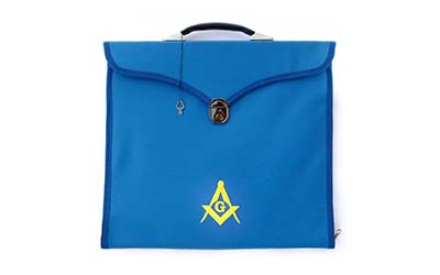 Masonic MM/WM and Provincial Full Dress Blue Cases with hard handle Blue