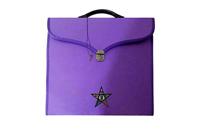 Masonic Regalia Order of Eastern Star OES File Cases with hard handle