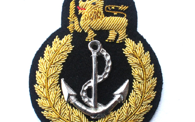 SA Navy Officer Cap Badge, Bullion Wire