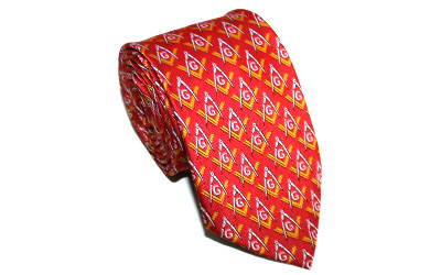 Masonic Square Compass Necktie