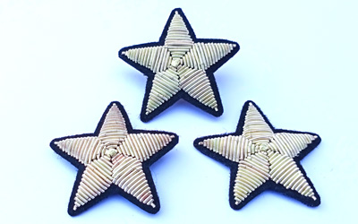 Star Bullion Wire Embroidery Brooch Supplier
