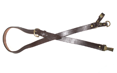 WW1 WW2 Officer Brown Leather Cross Strap