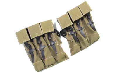 WWII German MP Ammo Pouches Canvas