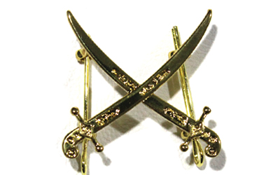 Dubai Police Metal Rank crossed swords Badge